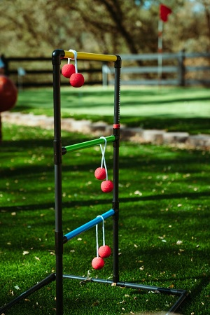 ladder ball tossing game
